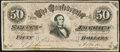 "Confederate Notes:1864 Issues, CT66/501 ""Havana Counterfeit"" $50 1864 Extremely Fine.. ..."