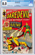 Silver Age (1956-1969):Superhero, Daredevil #2 (Marvel, 1964) CGC VF 8.0 Off-white to white pages....