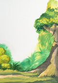 Animation Art:Painted cel background, Jungle Book  Childrens Book Art Back...