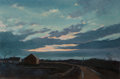 Fine Art - Painting, American, Eric Sloane (American, 1905-1985). Spring Sunset. Oil on Masonite. 23 x 36 inches (58.4 x 91.4 cm). Signed and titled lo...