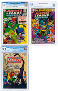 Silver Age (1956-1969):Superhero, Justice League of America #42, 48, and 73 Certified Grades...