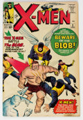 Silver Age (1956-1969):Superhero, X-Men #3 (Marvel, 1964) Condition: VG. The first a...
