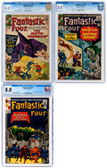 Silver Age (1956-1969):Superhero, Fantastic Four #21, 23, and 39 CGC-Graded Group (Marvel, 1...
