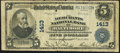 National Bank Notes:Maryland, Baltimore, MD - $5 1902 Plain Back Fr. 606 The Merchants NB Ch. # 1413 Very Good-Fine.. ...