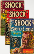 Golden Age (1938-1955):Horror, Shock SuspenStories #7, 14, and 18 Group (EC, 1953-55) Condition: Average GD/VG.... (Total: 3 Comic Books)