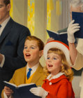 Mainstream Illustration, Robert G. Harris (American, 1911-2007). Children Singing in Church. Oil on canvas. 20.25 x 17.25 in. (image). Signed low...