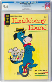 Huckleberry Hound #36 File Copy (Gold Key, 1969) CGC NM+ 9.6 Off-white to white pages