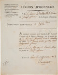 Books:Manuscripts, Claude Louis Berthollet. Seven Autograph Letters Signed and One Document Signed. . ...