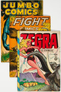 Golden Age (1938-1955):Miscellaneous, Golden Age Miscellaneous Comics Group of 3 (Various Publishers, 1940s) Condition: Average VG.... (Total: 3 Comic Books)