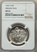 Commemorative Silver, 1926-S 50C Oregon MS63 NGC. NGC Census: (215/2688). PCGS Population: (620/3460). CDN: $165 Whsle. Bid for problem-free NGC/...