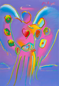 Peter Max (American, b. 1937) Angel with Heart, 1993 Acrylic on paper 39 x 26-1/2 inches (99.1 x