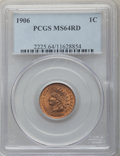 Indian Cents: , 1906 1C MS64 Red PCGS. PCGS Population: (391/255). NGC Census: (188/161). CDN: $175 Whsle. Bid for problem-free NGC/PCGS MS...