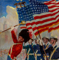 Mainstream Illustration, Jes Wilhelm Schlaikjer (American, 1897-1982). Parade Day, 1939. Oil on canvas. 25 x 24 in.. Initialed and dated lower le...