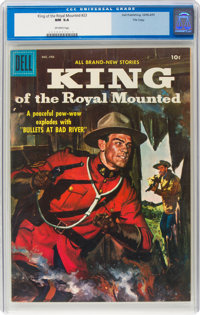 King of the Royal Mounted #23 File Copy (Dell, 1957) CGC NM 9.4 Off-white pages