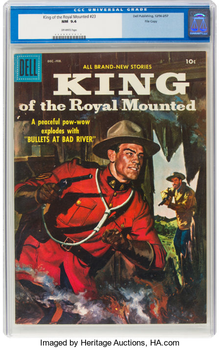 King of the Royal Mounted #23 File Copy (Dell, 1957) CGC NM 9.4 Off-white pages....