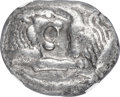 Ancients:Greek, Ancients: LYDIAN KINGDOM. Croesus (561-546 BC). AR stater (20mm, 10.65 gm). NGC XF 5/5 - 4/5....