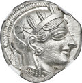 Ancients:Greek, Ancients: ATTICA. Athens. Ca. 440-404 BC. AR tetradrachm (24mm, 17.20 gm, 6h). NGC Choice MS 5/5 - 5/5....