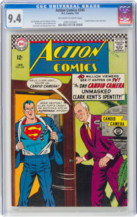 Action Comics #345 (DC, 1967) CGC NM 9.4 Off-white to white pages