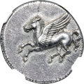 Ancients:Greek, Ancients: SICILY. Syracuse. Time of Timoleon, Third Democracy (ca. 344-317 BC). AR stater (22mm, 8.49 gm, 10h). NGC Choice AU★ 5/5...