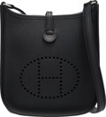 """Luxury Accessories:Bags, Hermès Black Epsom Leather Evelyne TPM Bag with Palladium Hardware. O Square, 2011. Condition: 3. 6.5"""" Width x 7.5..."""