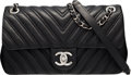 """Luxury Accessories:Bags, Chanel Chevron Quilted Lambskin Leather Medium Flap Bag. Condition: 2. 10"""" Width x 6"""" Height x 3"""" Depth. ..."""