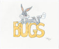 Animation Art:Production Drawing, Virgil Ross - Bugs Bunny Drawing (Warner Brothers, c. 1990s)....