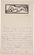 Books:Manuscripts, André Lhote. Eight Autograph Letters Signed and One Typed LetterSigned....