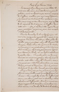 Books:Manuscripts, Andre-Marie Ampere. Autograph Letter Signed. . ...