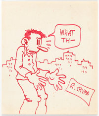 Robert Crumb Flakey Foont Large-Scale Sketch Original Art (1970)