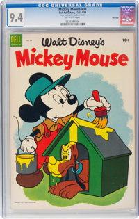 Mickey Mouse #33 File Copy (Dell, 1954) CGC NM 9.4 Off-white pages