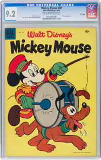 Mickey Mouse #40 File Copy (Dell, 1955) CGC NM- 9.2 Off-white to white pages