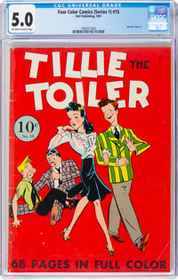 Four Color (Series One) #15 Tillie the Toiler (Dell, 1941) CGC VG/FN 5.0 Off-white to white pages