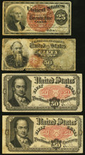 Fractional Currency:Fourth Issue, Fractional Quartet.. ... (Total: 4 notes)