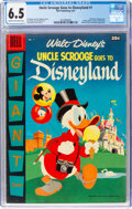 Silver Age (1956-1969):Humor, Dell Giant Comics: Uncle Scrooge Goes to Disneyland #1 (Dell, 1957) CGC FN+ 6.5 Cream to Off-White pages....