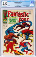 Silver Age (1956-1969):Superhero, Fantastic Four #73 (Marvel, 1968) CGC FN- 5.5 Off-white pages....
