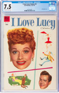 Golden Age (1938-1955):Humor, I Love Lucy #4 (Dell, 1955) CGC VF- 7.5 Off-white to white pages....