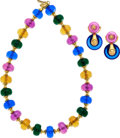 Estate Jewelry:Suites, Multi-Color Glass, Gold Suite, Marina B. . ... (Total: 2 Items)
