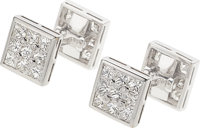 Diamond, White Gold Cuff Links