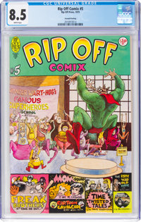 Rip Off Comix #5 Second Printing (Rip Off Press, 1981) CGC VF+ 8.5 White pages