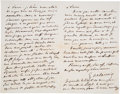 Books:Manuscripts, Eugène Delacroix. Five Autograph Letters Signed. . ...