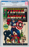 Silver Age (1956-1969):Superhero, Captain America #100 (Marvel, 1968) CGC VF+ 8.5 Off-white to white pages....
