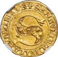 Italy, Italy: Siena. Republic gold Florin ND (1340-1450) AU58 NGC,...