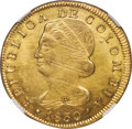 Colombia, Colombia: Republic gold 8 Escudos 1830 POPAYAN-UR MS61 NGC,...