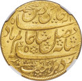 India:British India, India: British India. Bengal Presidency gold Mohur AH 1202 Year 19 (1793-1818) MS64 NGC,...