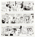 Original Comic Art:Comic Strip Art, Al McWilliams Dateline Danger! Daily Comic Strip OriginalArt Group of 3 Consecutive (Field Enterprises, 1970).... (Total: 3Original Art)