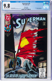 Superman #75 Third Printing (DC, 1993) CGC NM/MT 9.8 Off-white to white pages