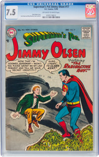 Superman's Pal Jimmy Olsen #17 (DC, 1956) CGC VF- 7.5 Off-white to white pages