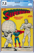 Golden Age (1938-1955):Superhero, Superman #28 (DC, 1944) CGC VF- 7.5 Off-white to white pages....