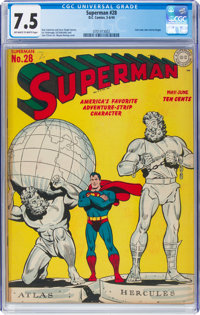 Superman #28 (DC, 1944) CGC VF- 7.5 Off-white to white pages