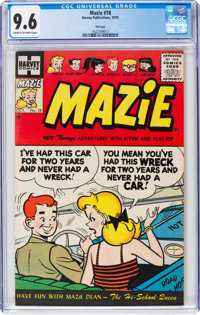 Mazie #18 File Copy (Harvey, 1955) CGC NM+ 9.6 Cream to off-white pages